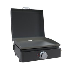 "Lifesmart 17"" Outdoor Tabletop Gas Griddle with Bonus Carry Bag"