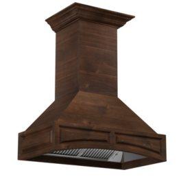 "ZLINE 48"" 1200 CFM Designer Series Wooden Wall-Mount Range Hood"