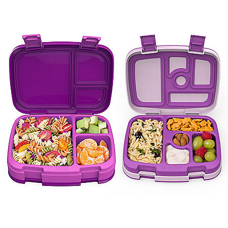 One Bentgo Fresh and One Bentgo Kids Bento Lunch Box (Assorted Colors)