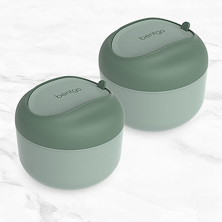 Bentgo Bowl Bento Lunch Box, 2-Pack (Assorted Colors)