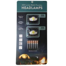Member's Mark 200 Lumen Multi-Function Headlamp (2 pk.)