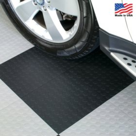 "BlockTile - Modular Interlocking Garage Floor Tiles - 12"" x 12"" x 1/2"" - 30 pk."