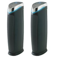 5 in 1 Air Purifier With Pet Pure True HEPA Filter, UVC Sanitizer, Odor Reduction, 2 Pack