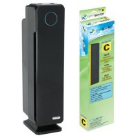 Germ Guardian Elite 4 in 1 Air Purifier Tower With HEPA Filter, UVC Sanitizer, Odor Reduction, And Bonus HEPA Replacement Filter