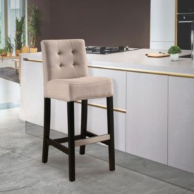 Mason Linen Bar Stool (Assorted Colors)