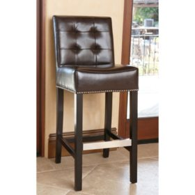 Mason Leather Bar Stool (Assorted Colors)