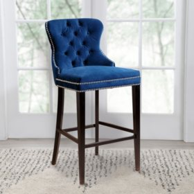 Milano Tufted Bar Stool (Assorted Colors)