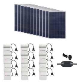 Grape Solar 3,180-Watt Expandable Poly-Crystalline PV Grid-Tied Solar Power Kit