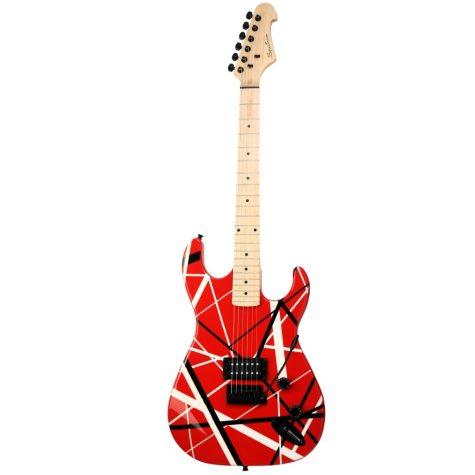 Spectrum AIL 58FS - Solid Body Full Size Straight Line Design Electric Guitar - Red & Black