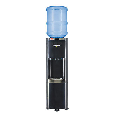 Whirlpool Black Top Load Water Dispenser Water Cooler with Cold and Hot Water