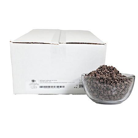 Dark Chocolate Blossom Curls, Bulk Wholesale Case (12 lbs.)