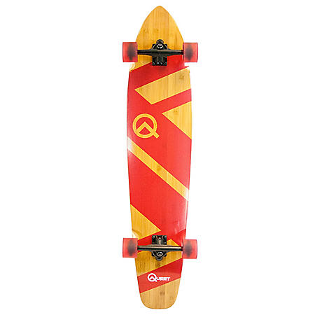"Quest 44"" Super Cruiser Crimson Bamboo & Maple Longboard Skateboard"