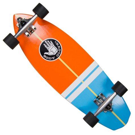 "Body Glove Surfslide 28"" High Performance Longboard Cruiser Skateboard, Orange"