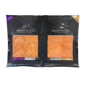 Heartwood Pure Smoked Salmon Duo Pack (8 oz.)