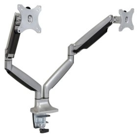 Mount-It! Dual Monitor Spring Desk Mount (Silver)
