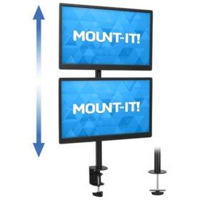 Mount-It! MI-1768 Vertical Dual Monitor Mount