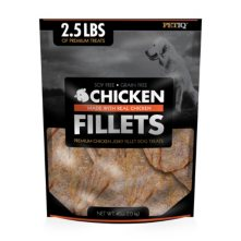 PetIQ Premium Chicken Jerky Fillet Dog Treats, 2.5 lbs.