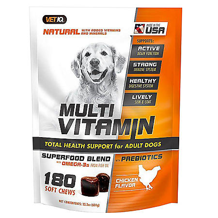 VetIQ Multi-Vitamin Soft Chew, Chicken Flavor (180 ct.)