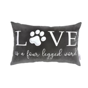 Studiochic Pet Lovers Embroidered Decorative Pillow (Love is a Four-Legged Word)