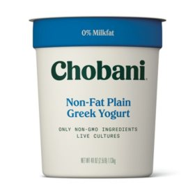 Chobani Plain Non-Fat Greek Yogurt (40 oz.)