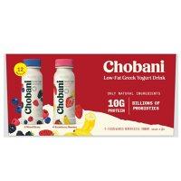 Chobani Low-Fat Greek Yogurt Drink Variety Pack (7 oz., 12 pk.)