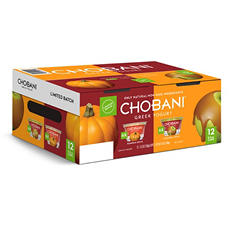 Chobani Greek Yogurt, Pumpkin Spice, Caramel Apple (5.3 oz. cup, 12 pk.)