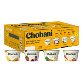 Chobani Fruit On The Bottom Greek Yogurt Variety Pack (16 pk.)