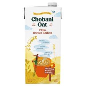 Chobani Oat Milk Plain, Barista Edition (32 fl. oz.)