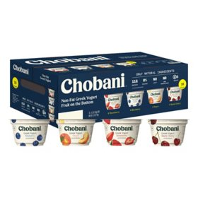 Chobani Non-Fat Greek Yogurt With Fruit On The Bottom Variety Pack (16 ct.)