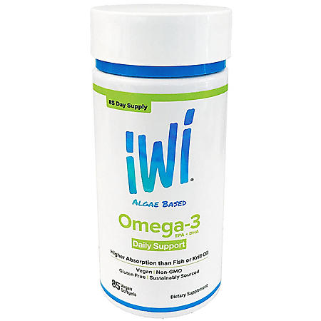 iWi Algae Based Omega-3 Daily Support (85 ct.)