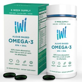 iWi Omega-3 Algae Oil, EPA and DHA (42 ct)