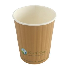 Earth Cup Double-Wall Insulated Hot Cup- 500 count (Various Sizes)
