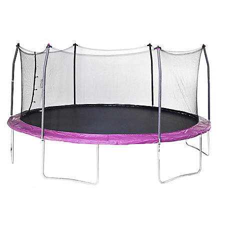Skywalker Trampolines 17' Oval Trampoline and Enclosure - Purple