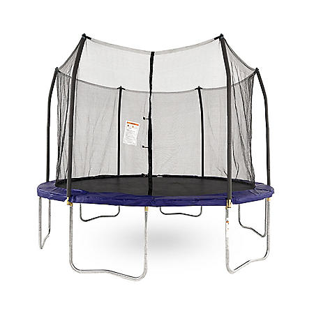 Skywalker Trampolines 12' Round Trampoline and Enclosure - Blue