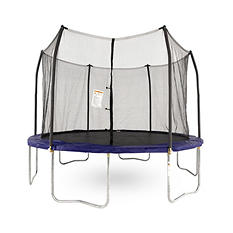 Skywalker Trampolines 12' Round Trampoline and Enclosure - Blue