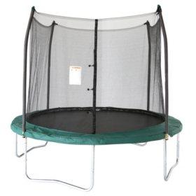 Skywalker Trampolines 10' Round Trampoline and Enclosure - Green