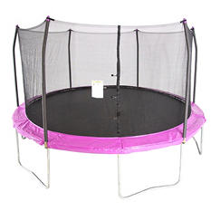 Skywalker Trampolines 15' Round Trampoline and Enclosure - Purple