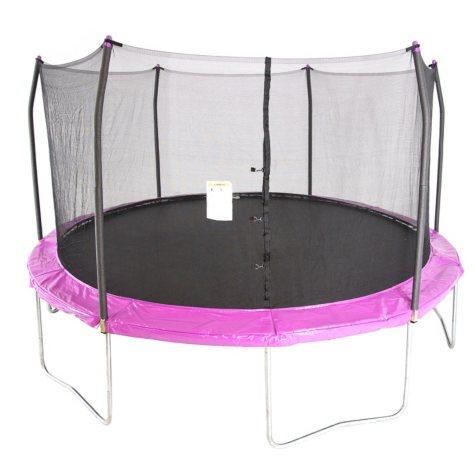 Skywalker Trampolines 15' Round Trampoline and Enclosure - Purple