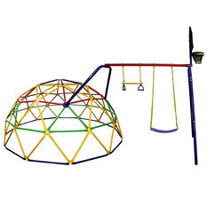 Skywalker Sports 10' Geo Dome Climber with Swing Set Accessory