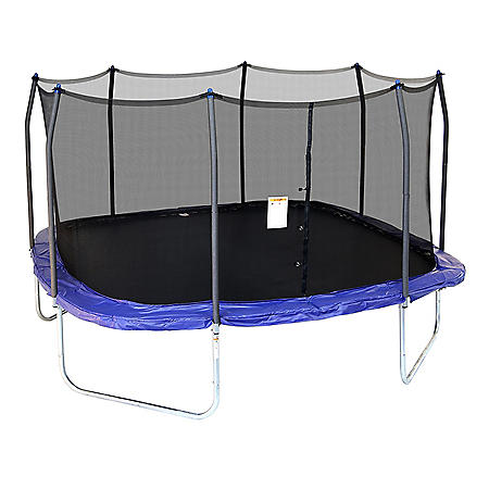 Skywalker Trampolines 15' Square Trampoline with Enclosure, Blue