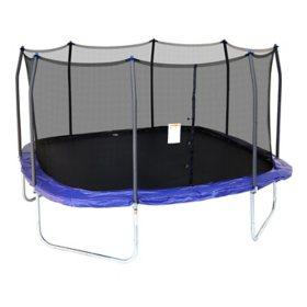 Skywalker Trampolines 15' Square Trampoline with Enclosure, Blue