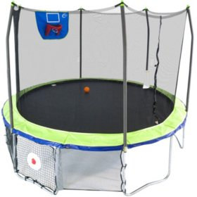 Skywalker 12' Round Sports Arena Trampoline with Enclosure – Dual Color