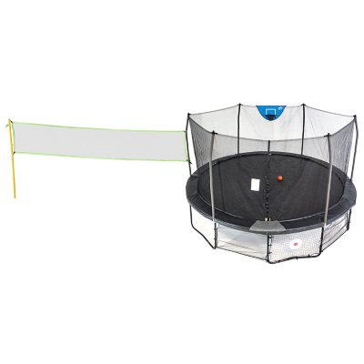 Skywalker Trampolines 16' Deluxe Round Sports Arena Trampoline with Enclosure (Black)