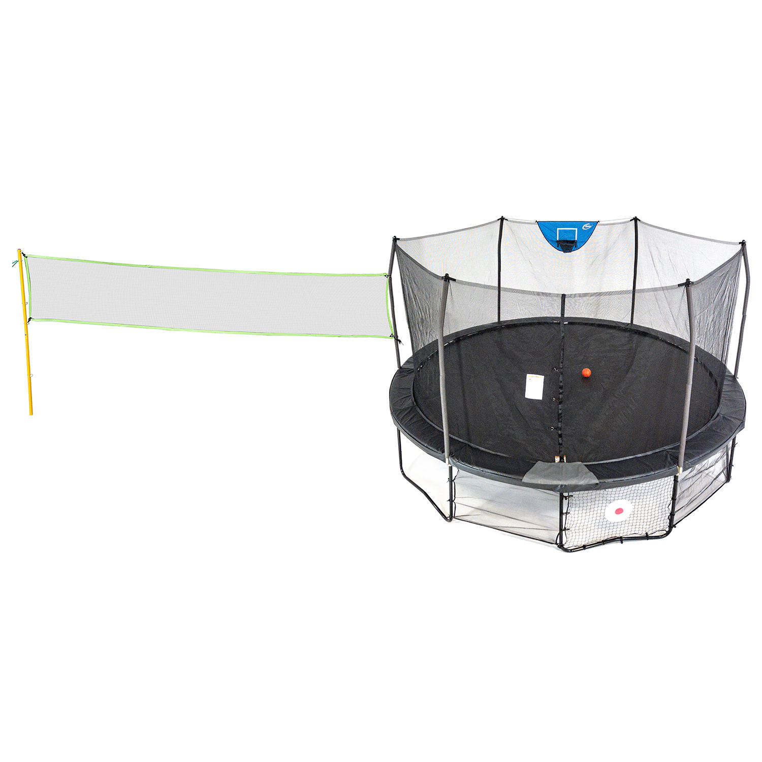 Skywalker Trampolines 16′ Deluxe Round Sports Arena Trampoline with Enclosure