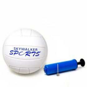 Volleyball and Pump Kit with Logo by Skywalker Sports