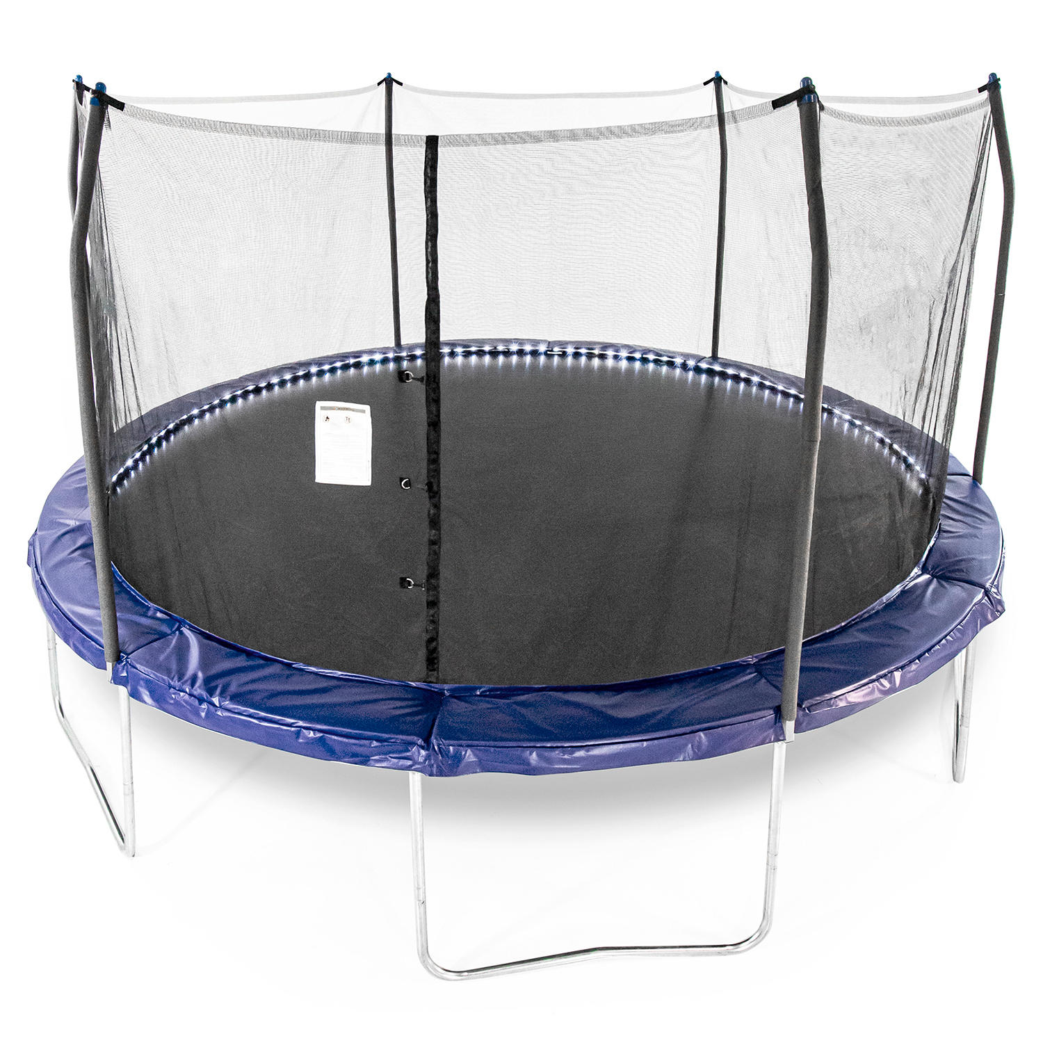 Skywalker Trampolines 15′ Round Trampoline with Lighted Spring Pad