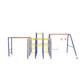 ActivPlay Modular Jungle Gym with Swing Set and Monkey Bars Kit