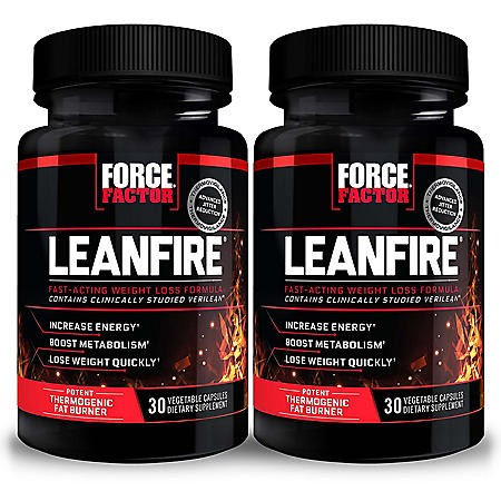 Force Factor LeanFire Thermogenic Fat Burner (30 ct., 2 pk.)