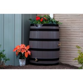 70-Gallon Rain Wizard Barrel, Oak with Darkened Ribs