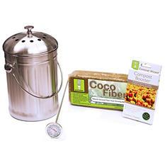 Compost Wizard Essentials Kit, Stainless Steel